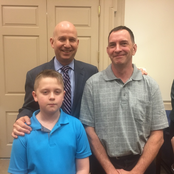 Governor Markell, Kevin Ohlandt and Jacob Ohlandt, 5/14/15