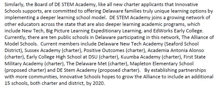 Innovative Schools Plans