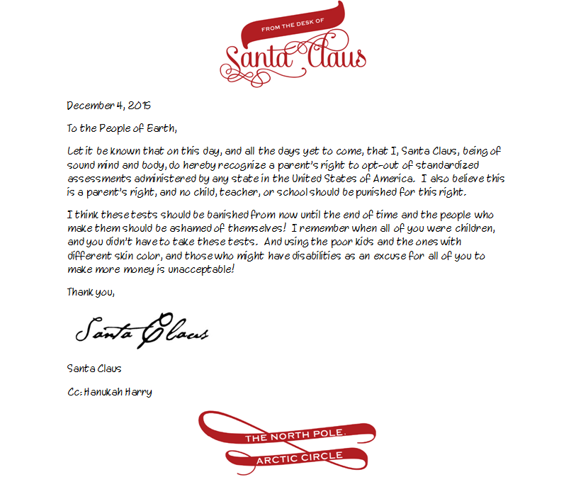 Breaking news santa claus supports opt out exceptional delaware santaclausletter spiritdancerdesigns Image collections