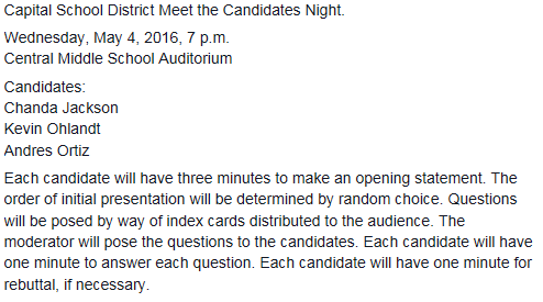 Capital Candidate Night