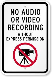 NoAudioOrVideoRecordingAllowed