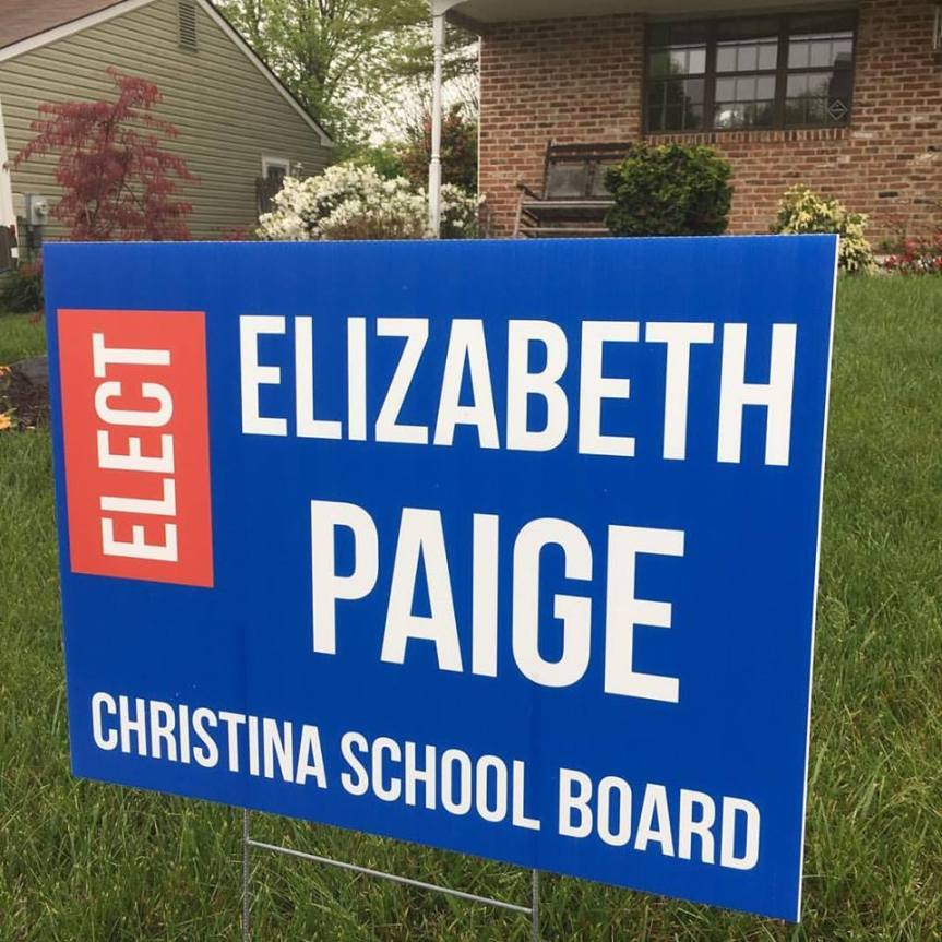 PaigeChristinaBoardCampaignSign