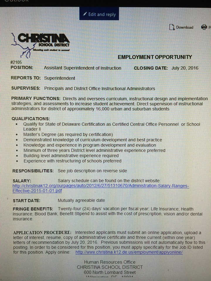 Administrative Positions Exceptional Delaware