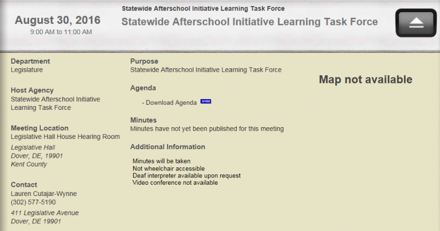 Epic Fail of the Week: Afterschool Task Force Holds First Meeting In The Morning