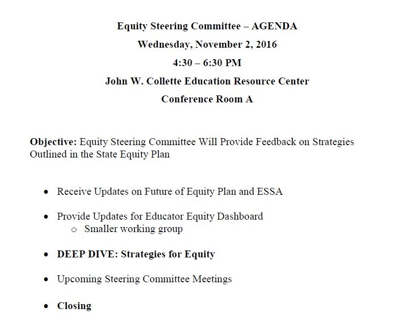 equitysteeringcommitteeagenda